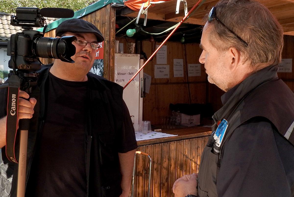 ...beliebter Interviewpartner: Falk Dornseifer