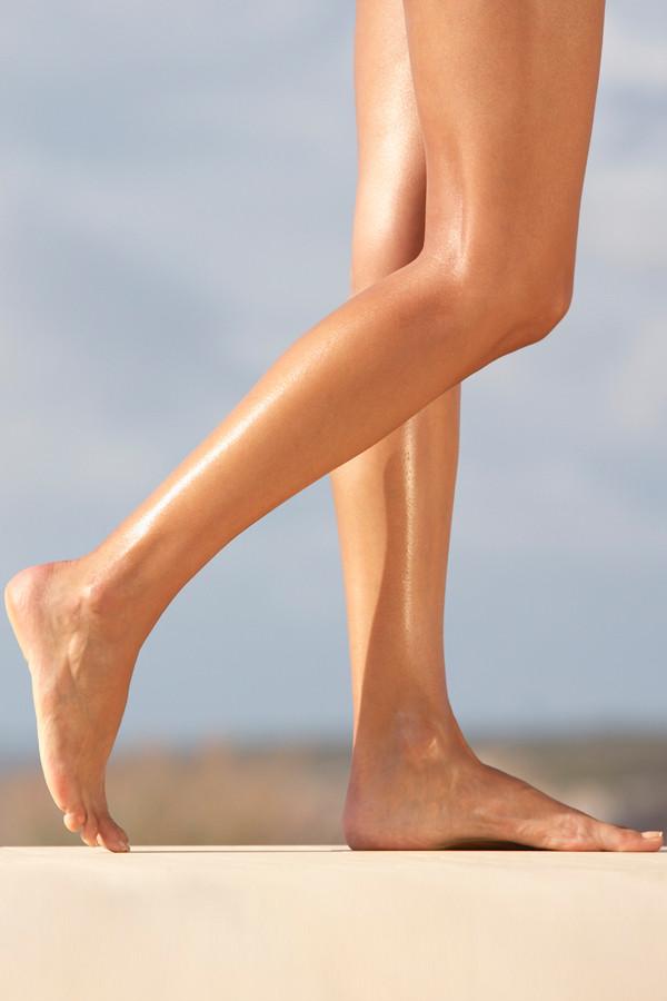samtweiche Beine