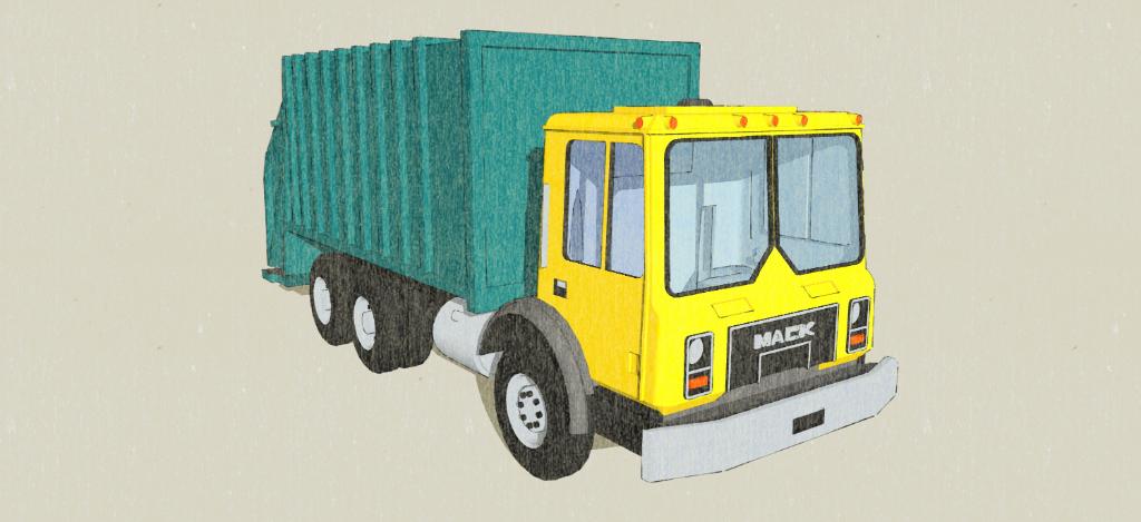 N-Scale Mack Waste Truck