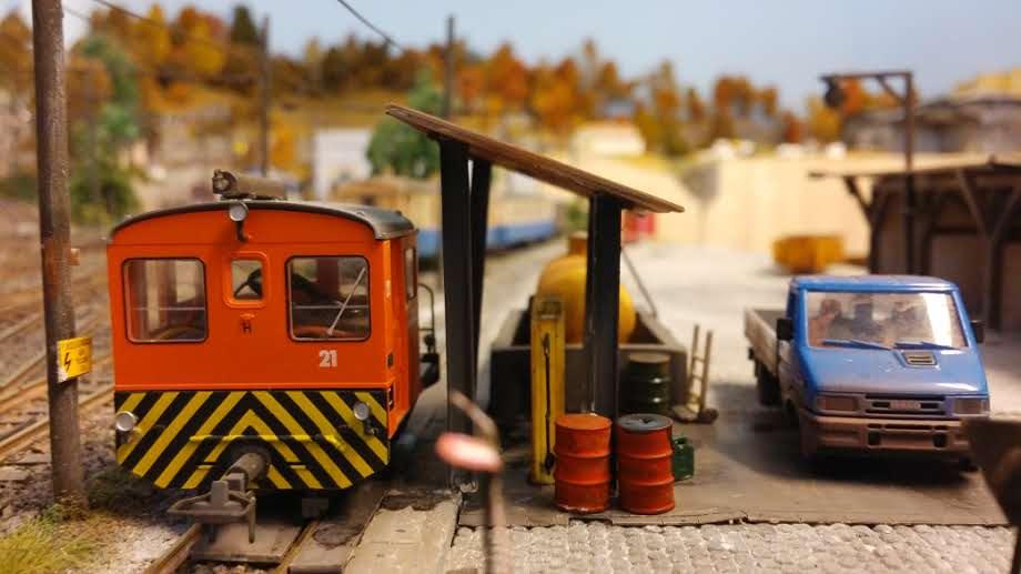 Betriebwerk, tankstelle. tm 2/2, depot, schmalspurbahn, bemo, h0m