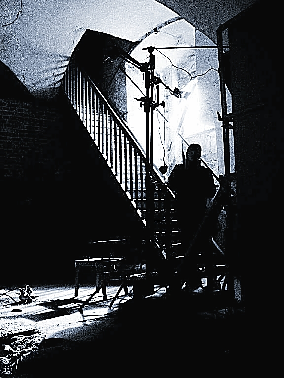 Die Treppe von Jan Oechsner: Während der Dreharbeiten im alten Sudhaus des Klosters Waldsassen