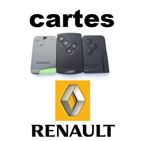 prix reprogrammation carte megane 2 Programmation de carte de démarrage Renault   Site de Clés Auto 72