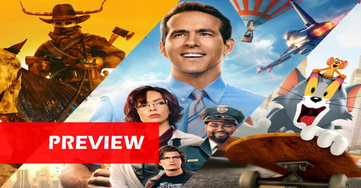"""Kinostarts der Woche (12.8.21): Ryan Reynolds in einem Videospiel, Comeback eines Klassikers und die ewige """"Purge""""!"""