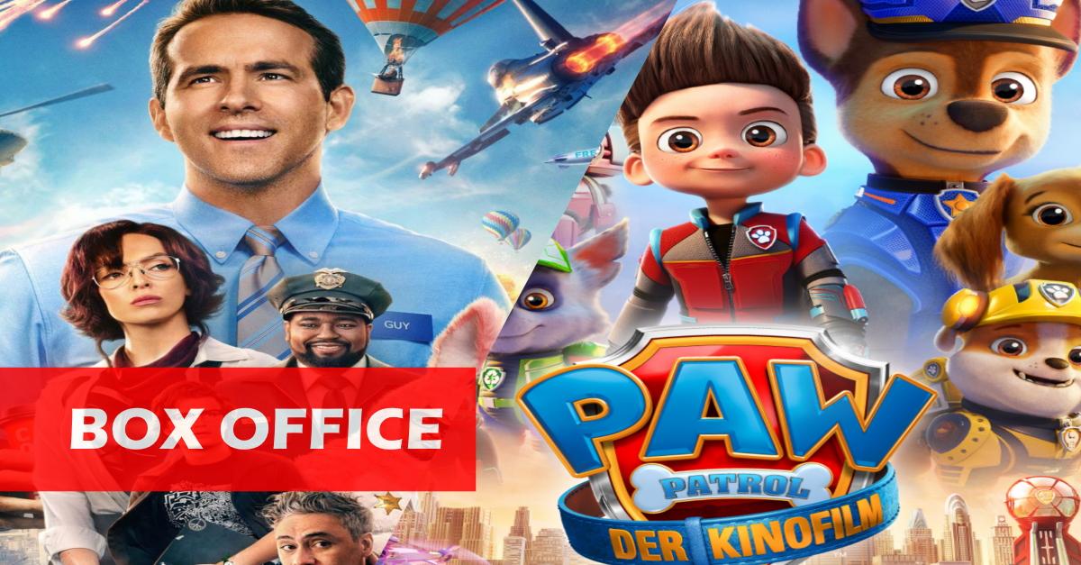 """US-Kinos: """"Free Guy"""" hält die Spitze, während """"Paw Patrol"""" die Konkurrenz überrascht!"""