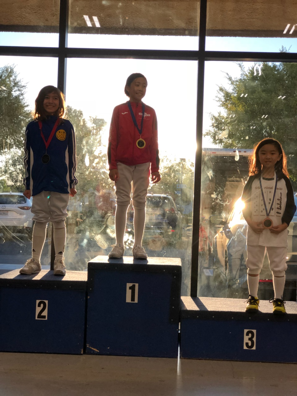 Our student Jolene winning third at the SoCal Little Musketeers RYC tournament in Thousand Oaks, CA