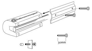 Si el ESW - imán se pone en caños de cobre o plástico; es absolutamente necesario poner en la punta de los tornillos una gorrita de plástico!