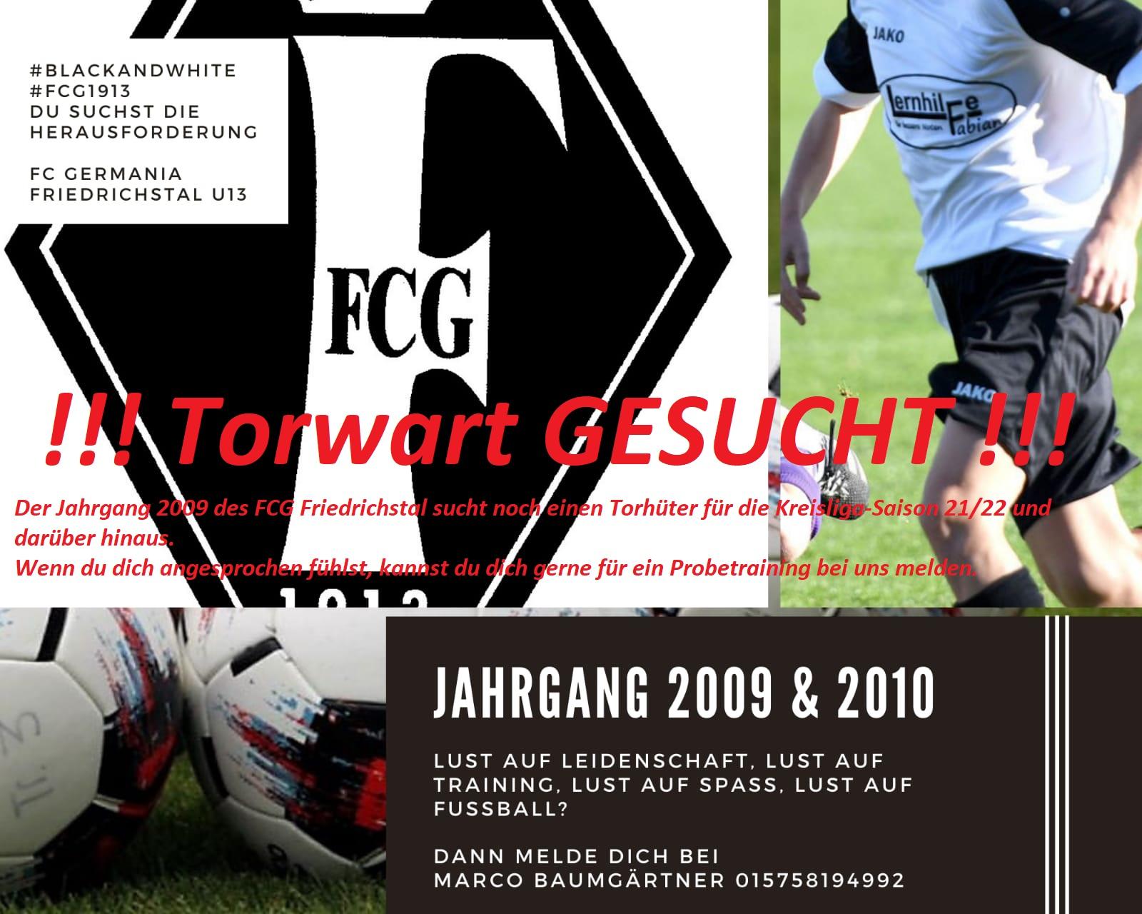 FCG sucht Kinder des Jahrganges 2009