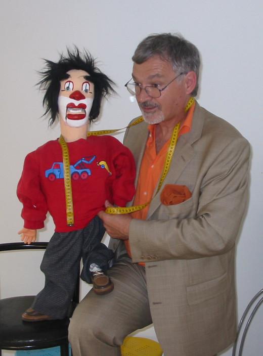 Avec pépé ma marionette mexicaine