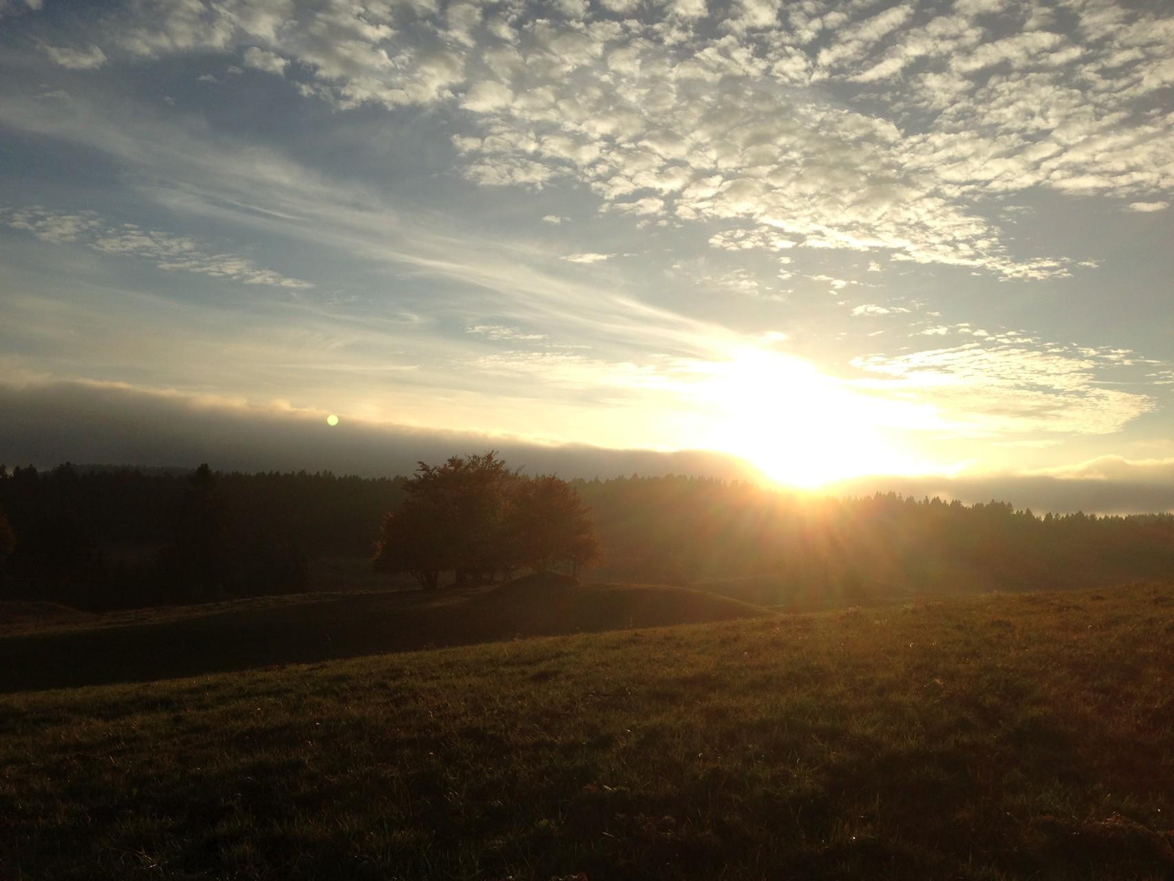 Coucher de Soleil sur la Combe du Cernetrou