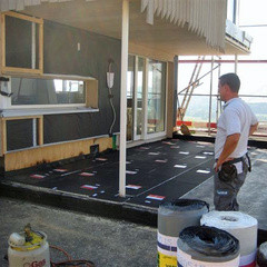 Isolation terrasse - Avant pose des membranes d'étanchéité