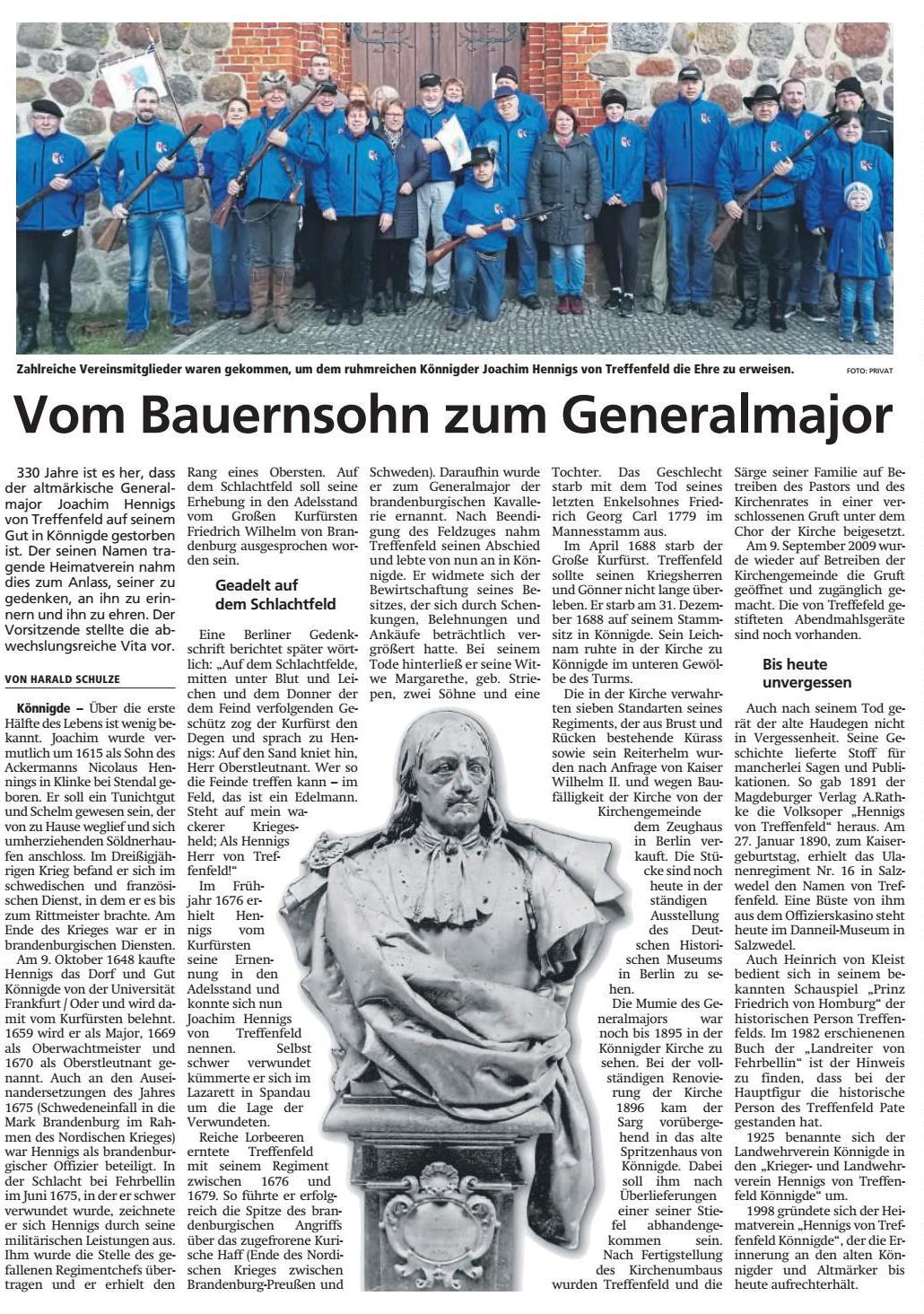 Altmark-Zeitung vom 05.01.2019, von Harald Schulze