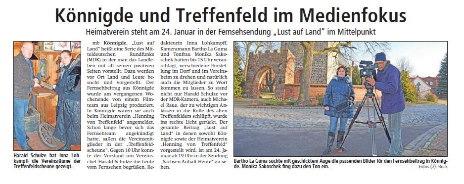 Altmark-Zeitung vom 21.01.2015, Maik Bock