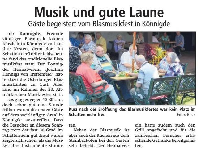 Altmark-Zeitung vom August 2018, von Maik Bock