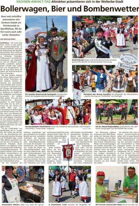 Altmark-Zeitung vom 04.06.2019, von Christian Wohlt