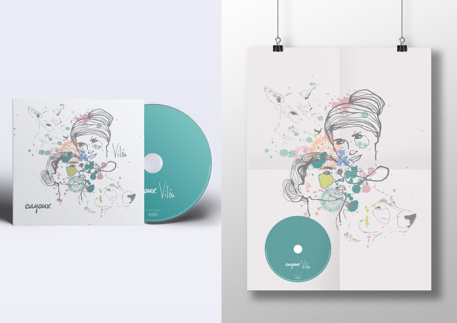 """CD Layout für """"Cayoux"""""""