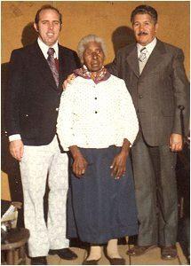 Älteste Zeltbesucherin mit 107 Jahren in Guarai, R.S. Brasil