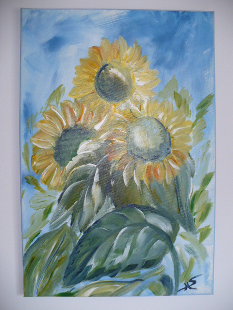 Sunflower in Acryl. Sunflower. Sonnenblumen. Girasol. Foto by RDS