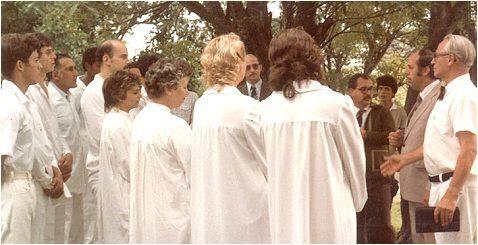 Taufgottesdienst mit Br. Adolf Schnegelsberg aus Stuttgart-Zuffenhausen, in Brasilien bekannt als Présidente Adolfo