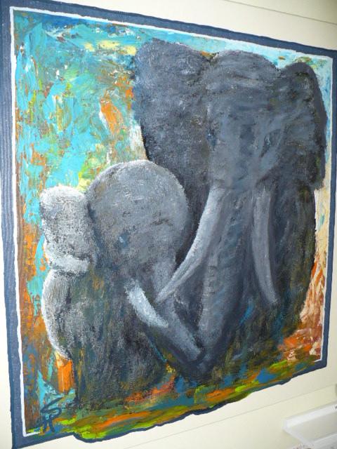 Elefanten in Acryl. Elefantes, Elefanten, Elefants. Foto by RDS