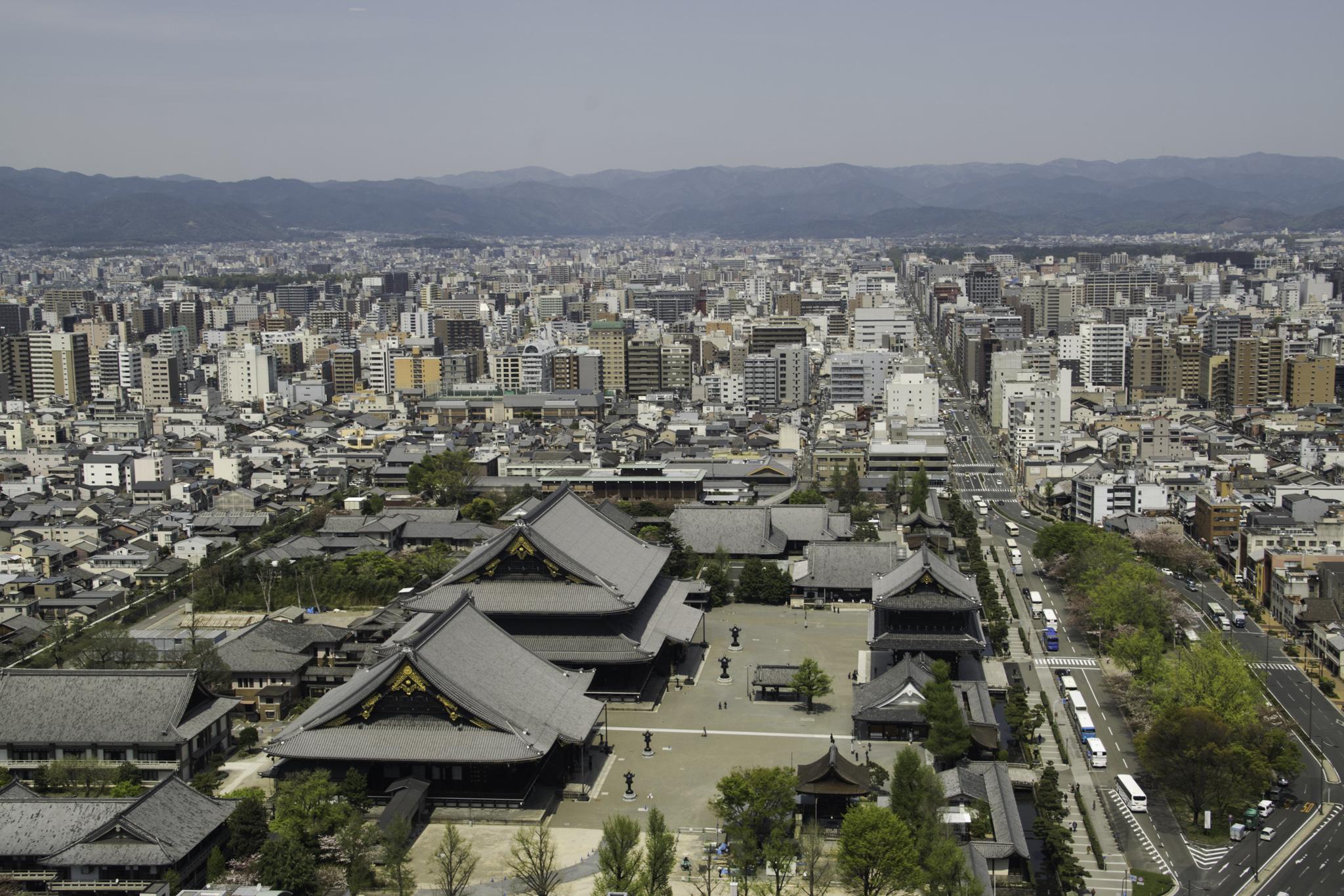 Kyoto aus der Vogelperspektive