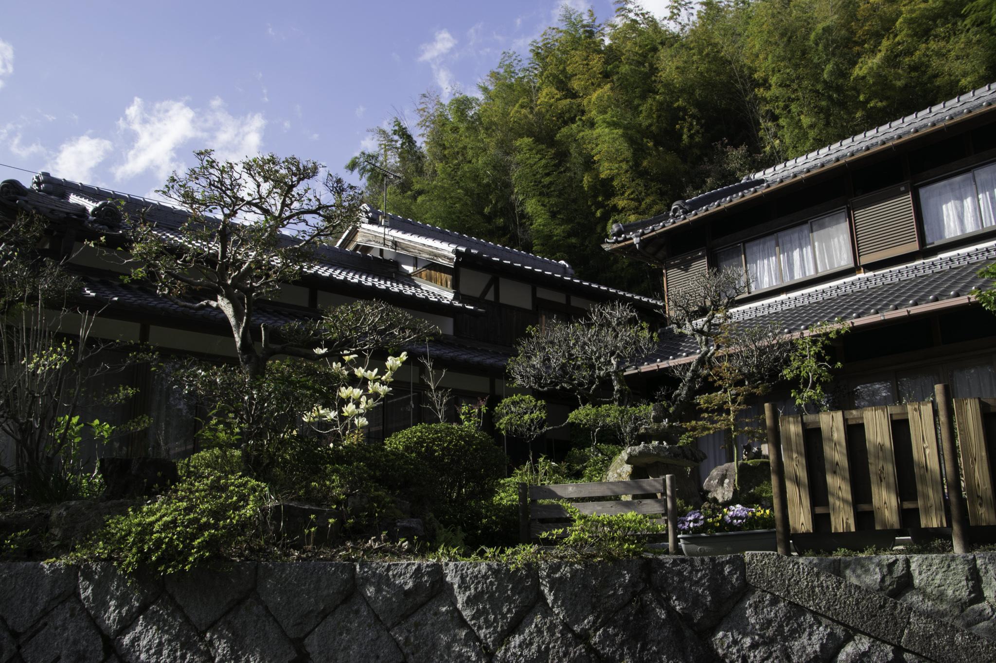 Wohlgepflegter japanischer Garten