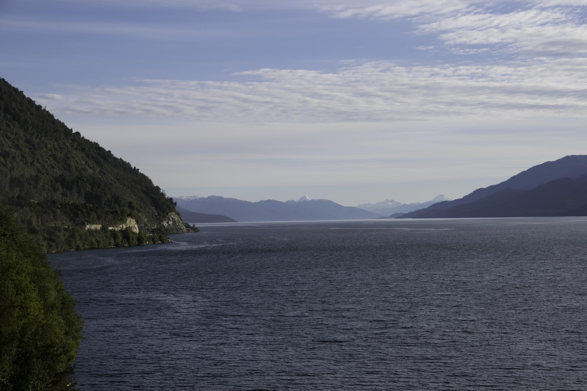 Radeln entlang des Fjords nach Puyuhuapi