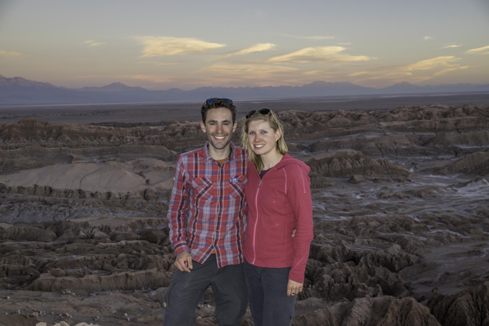 Sonnenuntergang auf dem Kojote-Felsen