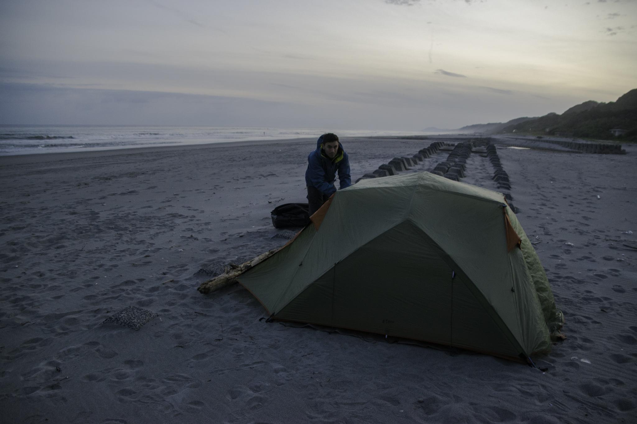 Erstes Mal Zelten direkt am Meer