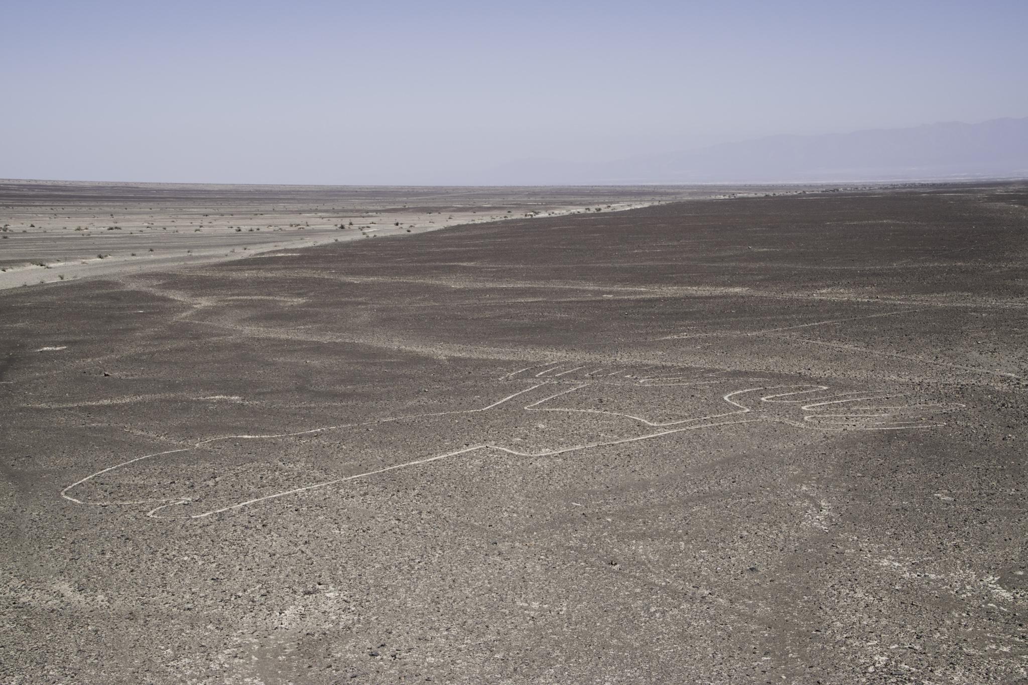 """Die berühmten Nazca-Linien. Hier: """"Die Hand"""""""