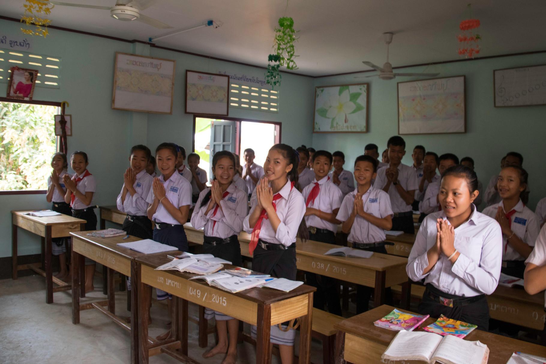 Laotische Begrüssung