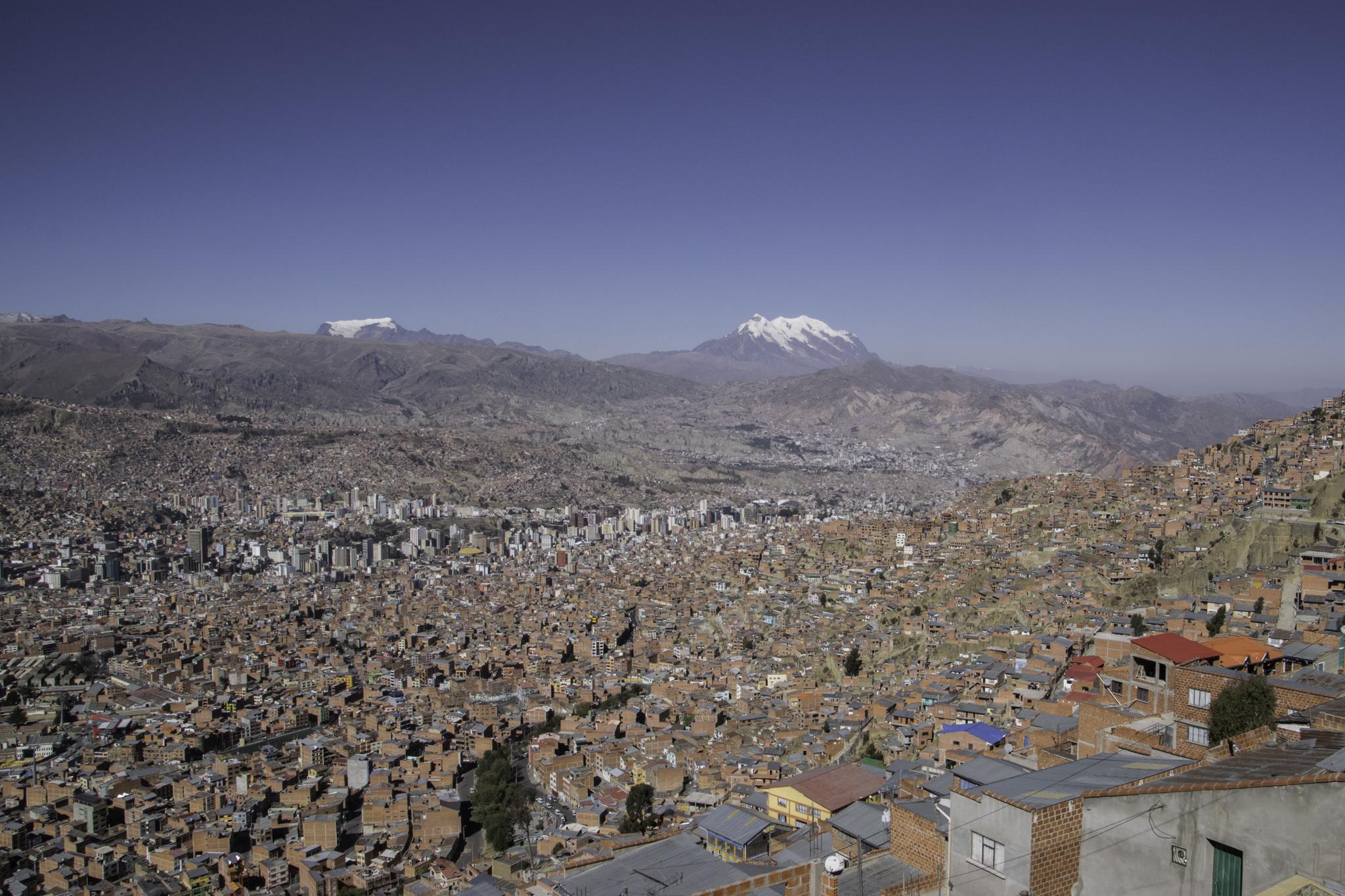 Einfahrt nach La Paz