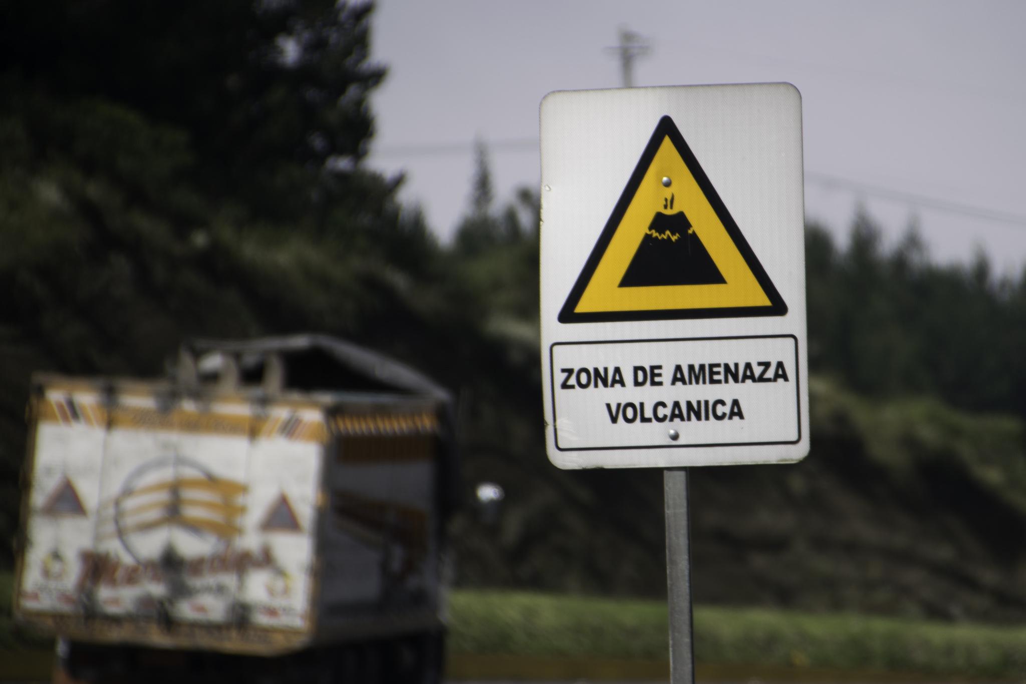In Ecuador säumen viele Vulkane die Panamericana