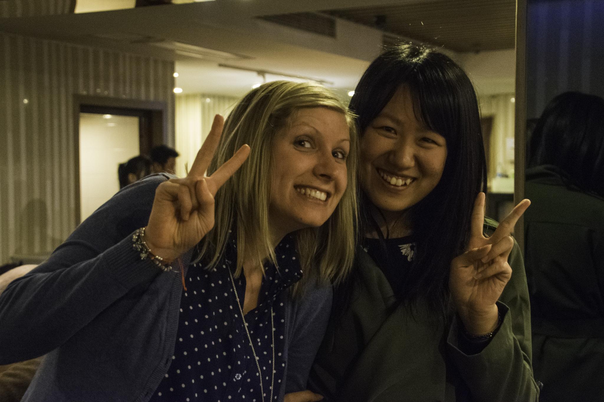 Hui, unsere wertvolle Begleiterin und Übersetzerin