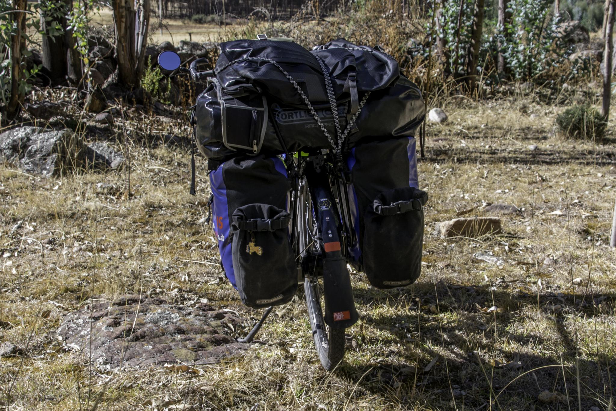 Rackpack und Rucksack von Ortlieb