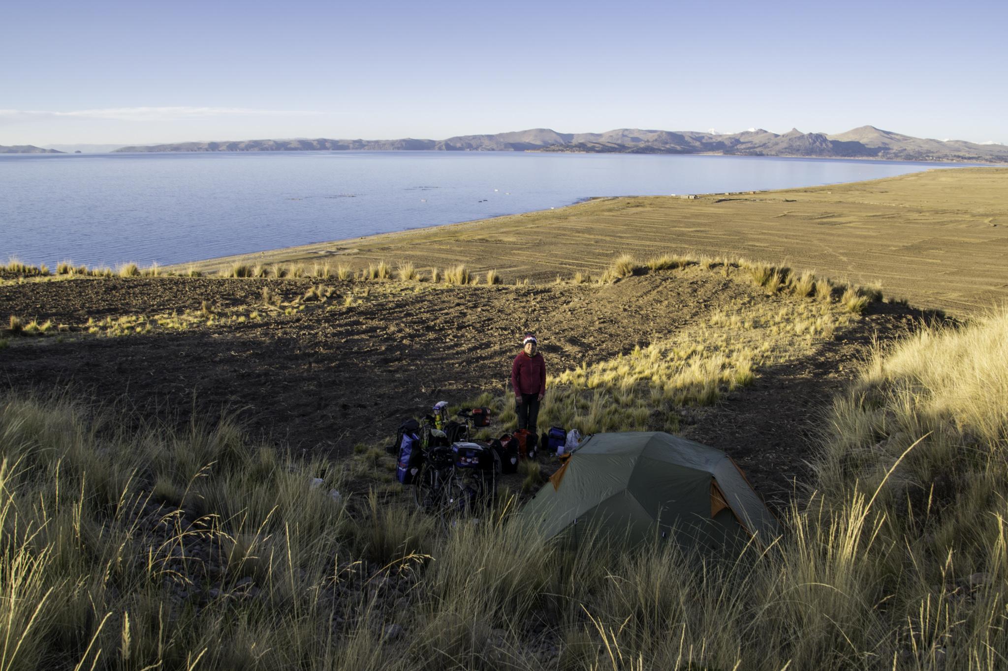 Zeltplatz am Lago Titicaca
