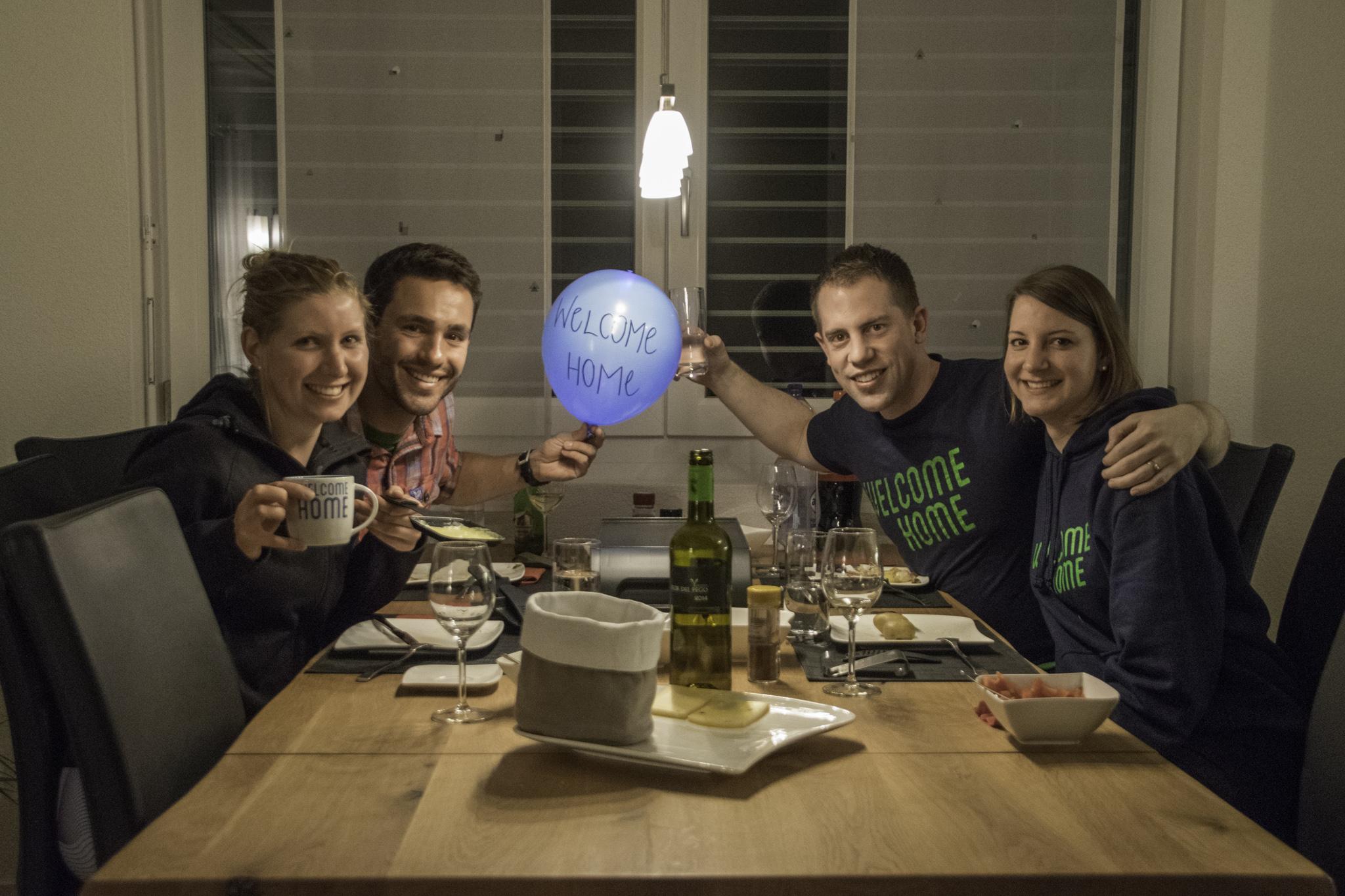 Raclette mit Silvia und Fabian