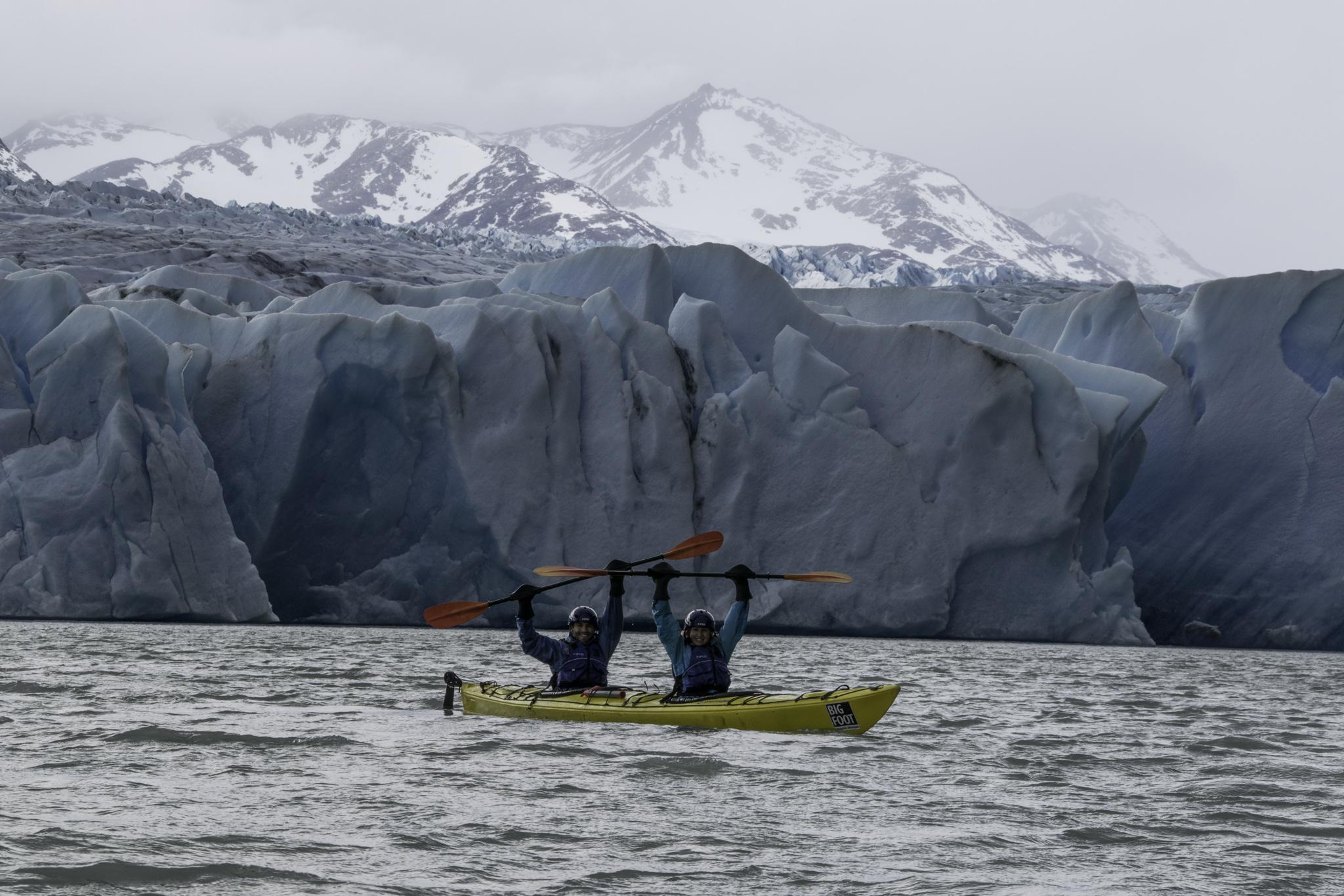 Kajaktour am Fusse des Gletschers