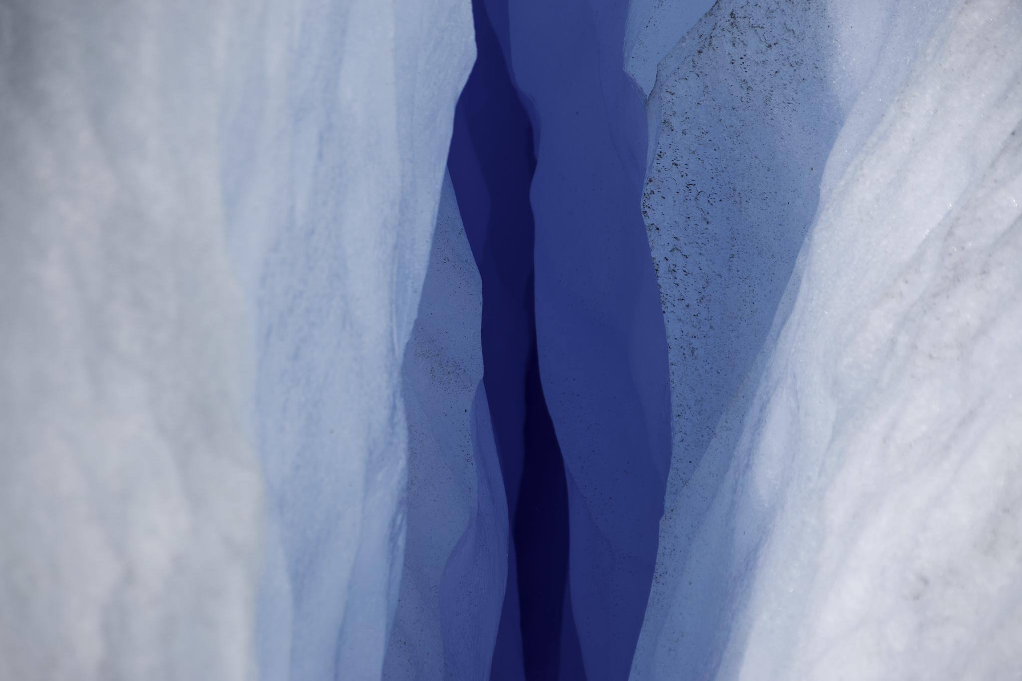 Beeindruckende Gletscherspalte
