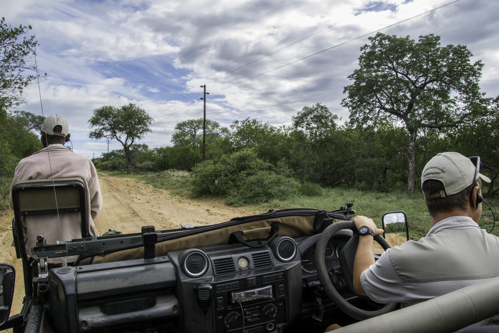 Unser Safari-Team: Spurenleser und Fahrer