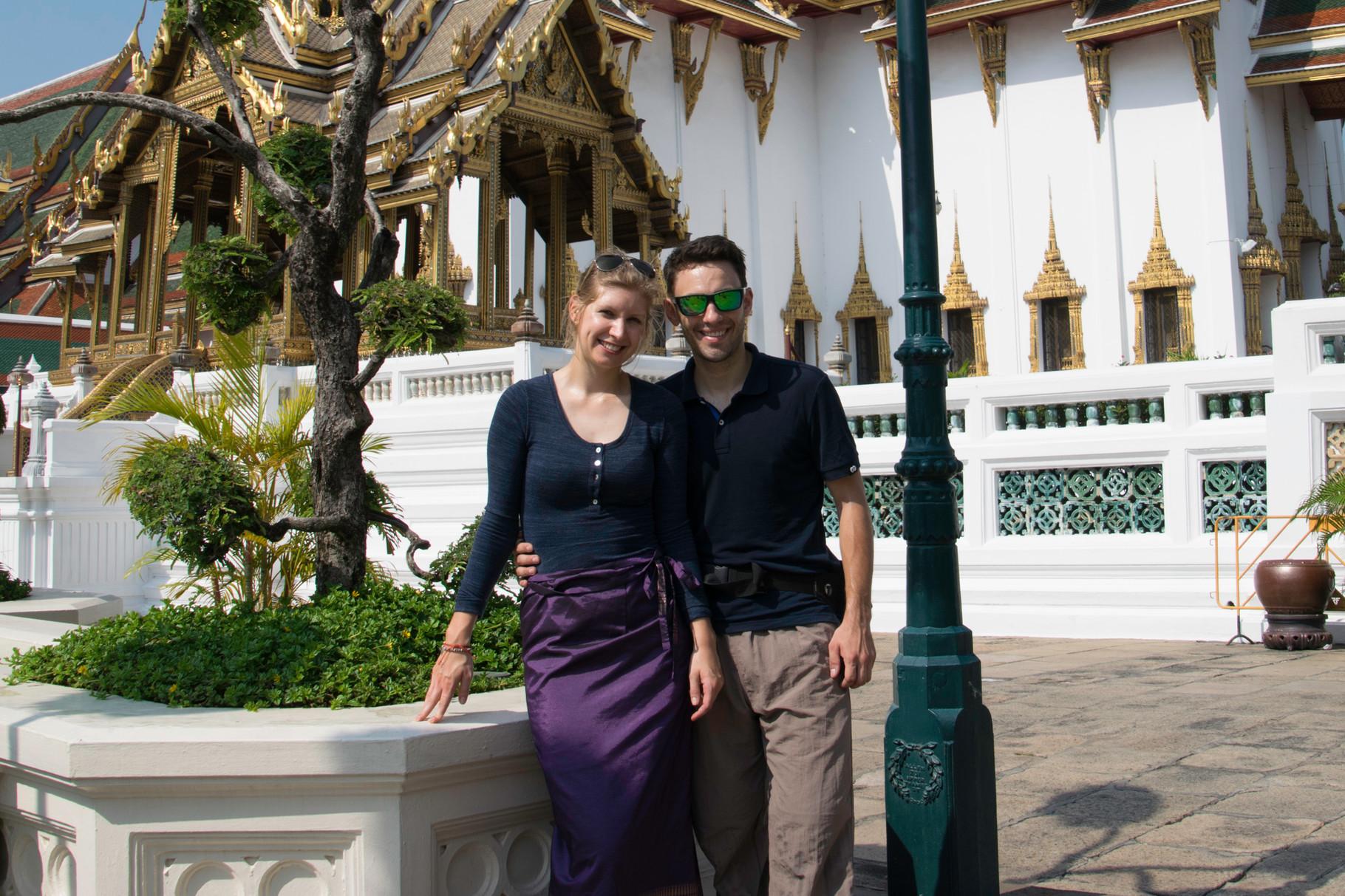 Unsere Beinkleidung war nicht konform für den Königspalast...