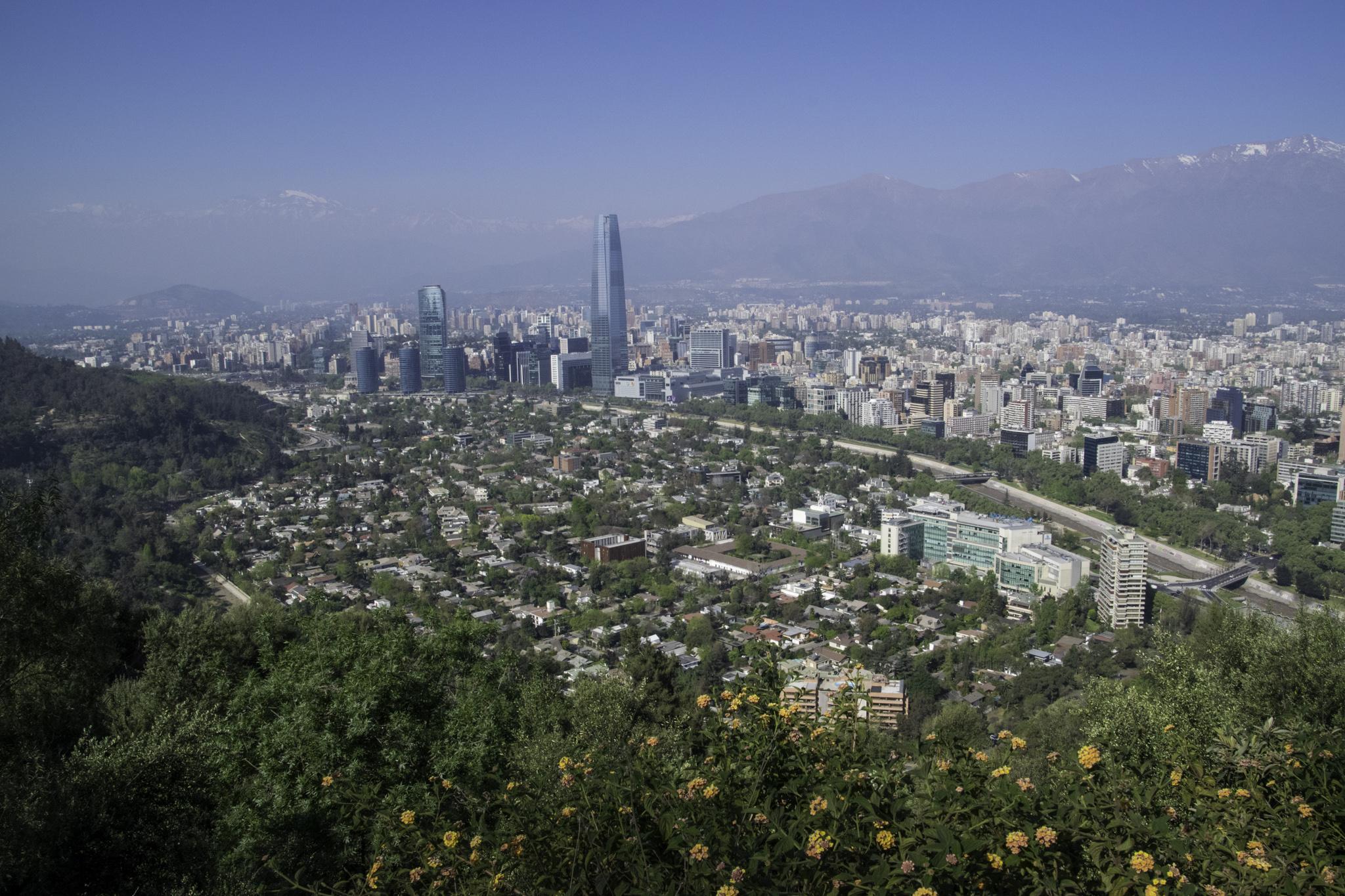 Aussicht vom Hausberg Santiagos