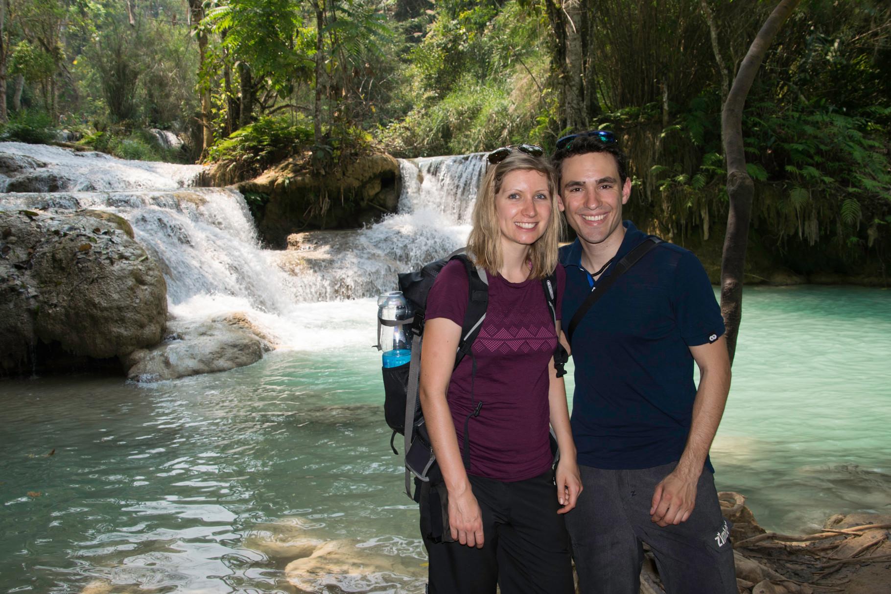 Besuch bei den Wasserfällen in der Umgebung von Luang Prabang