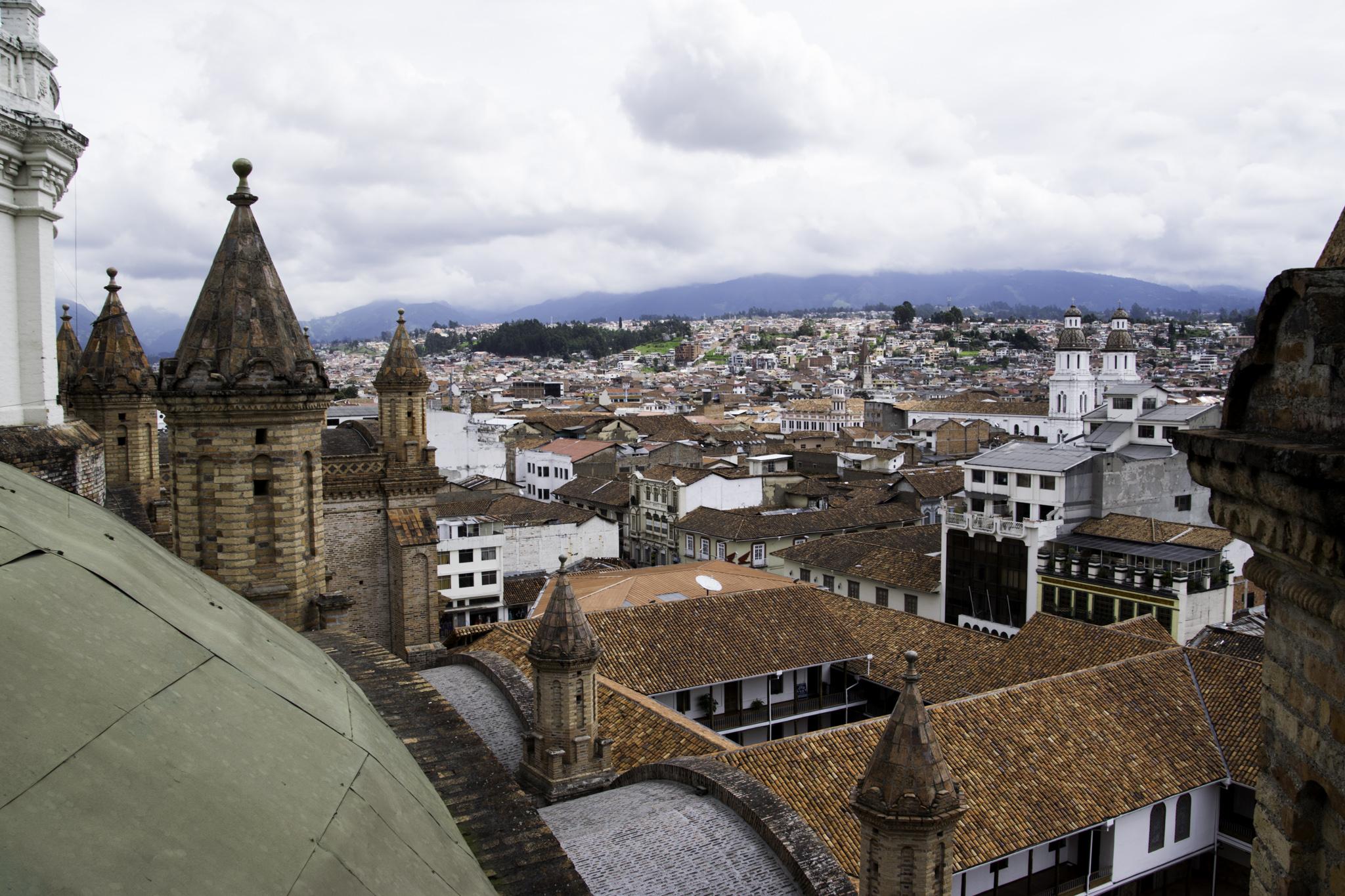 Aussicht über Cuenca vom Turm der Kathedrale aus