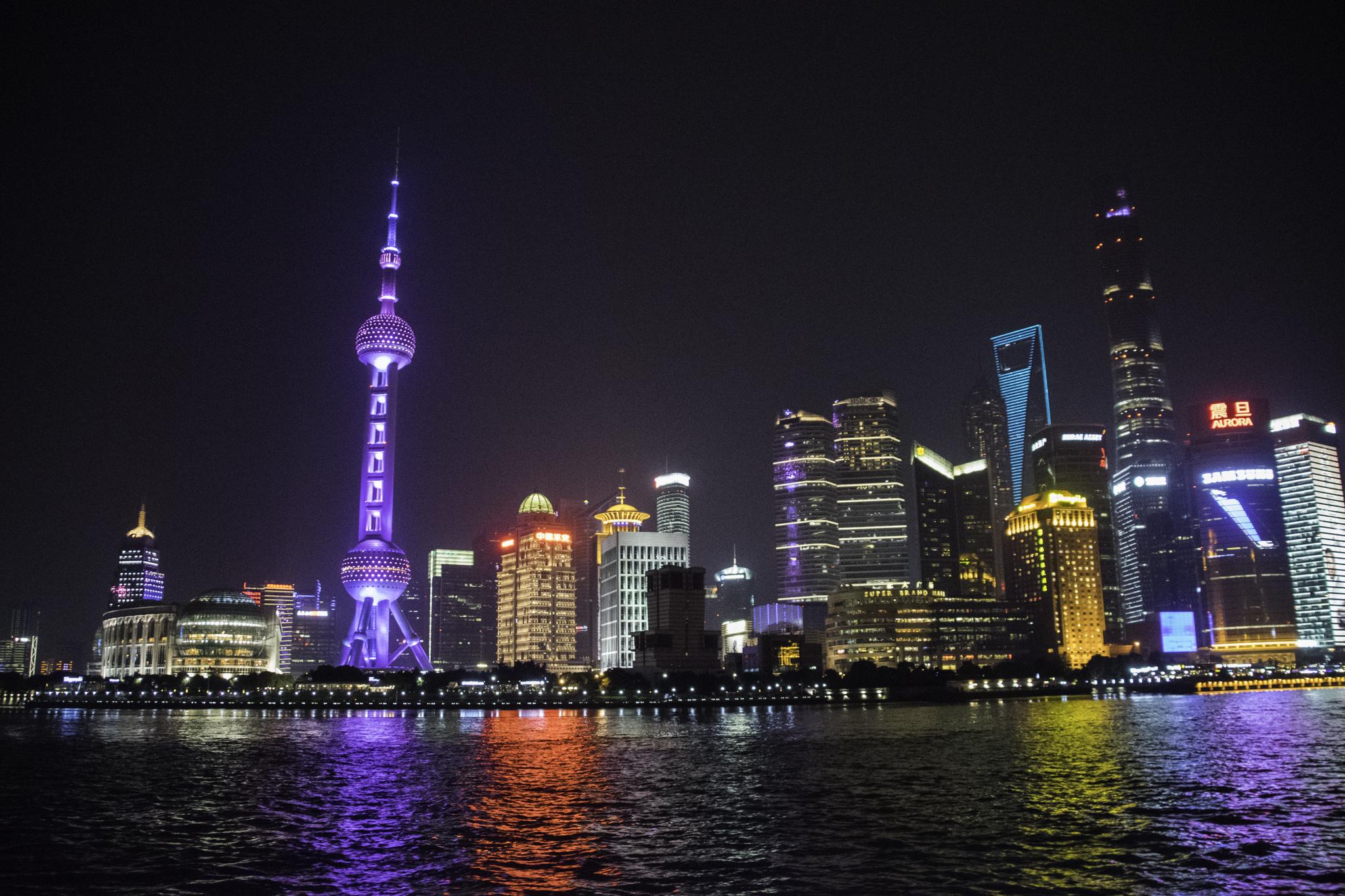 Pudong, das Geschäftsviertel gegenüber des Bunds