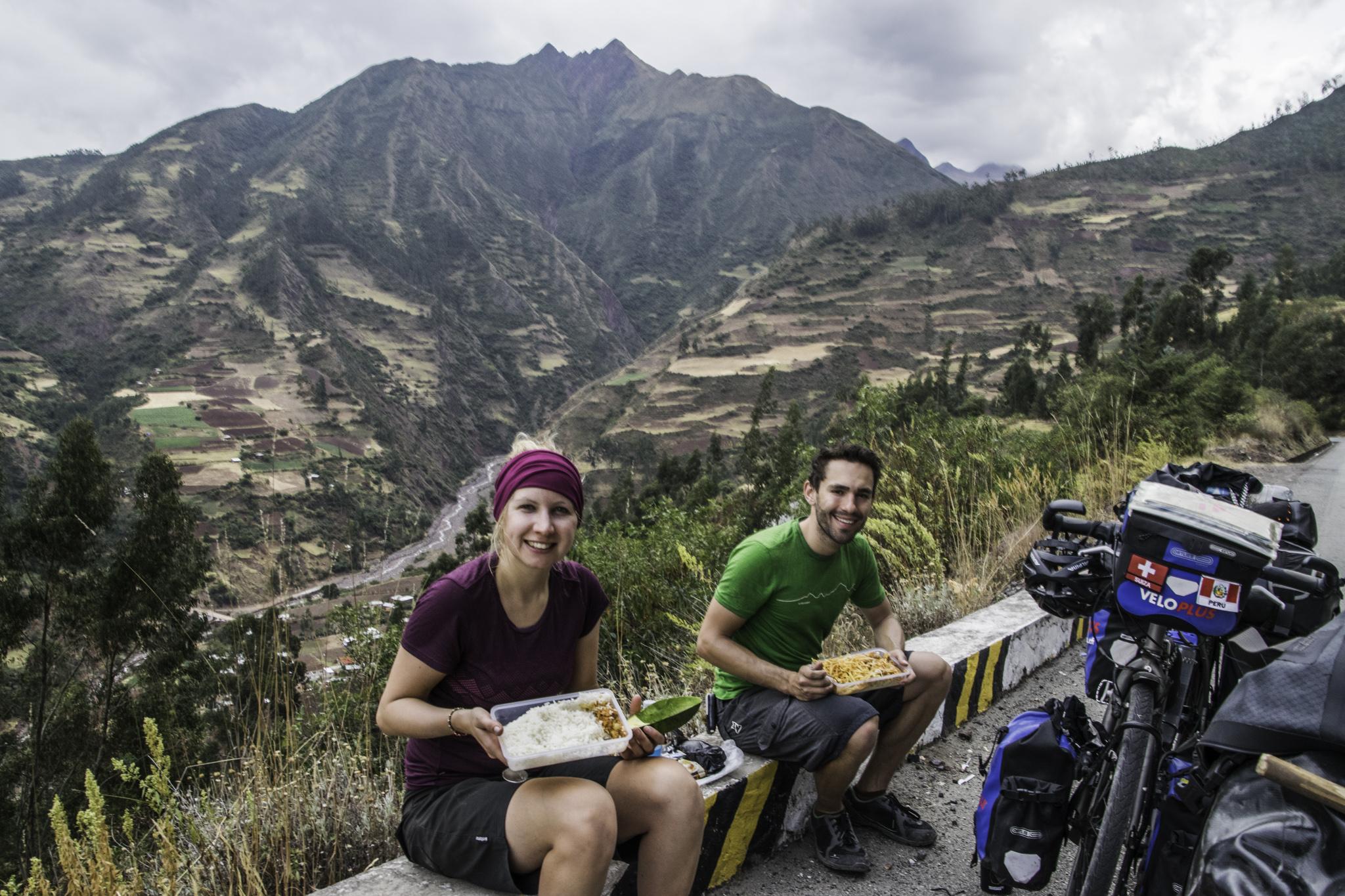 Mittagessen vor dem letzten Pass bis Cusco
