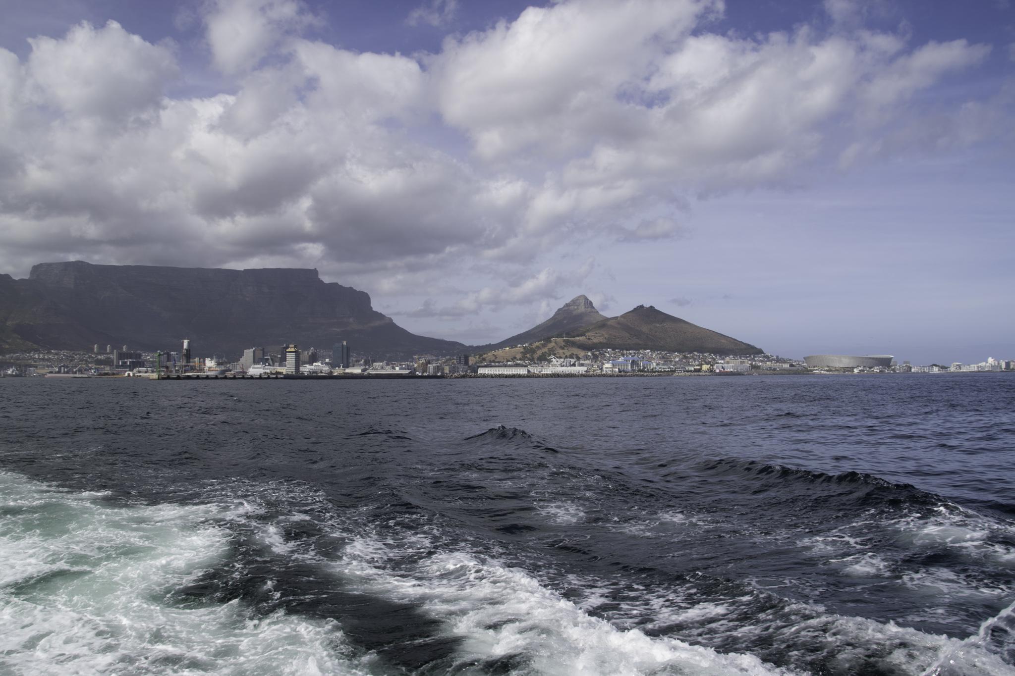 Auf dem Weg nach Robben Island
