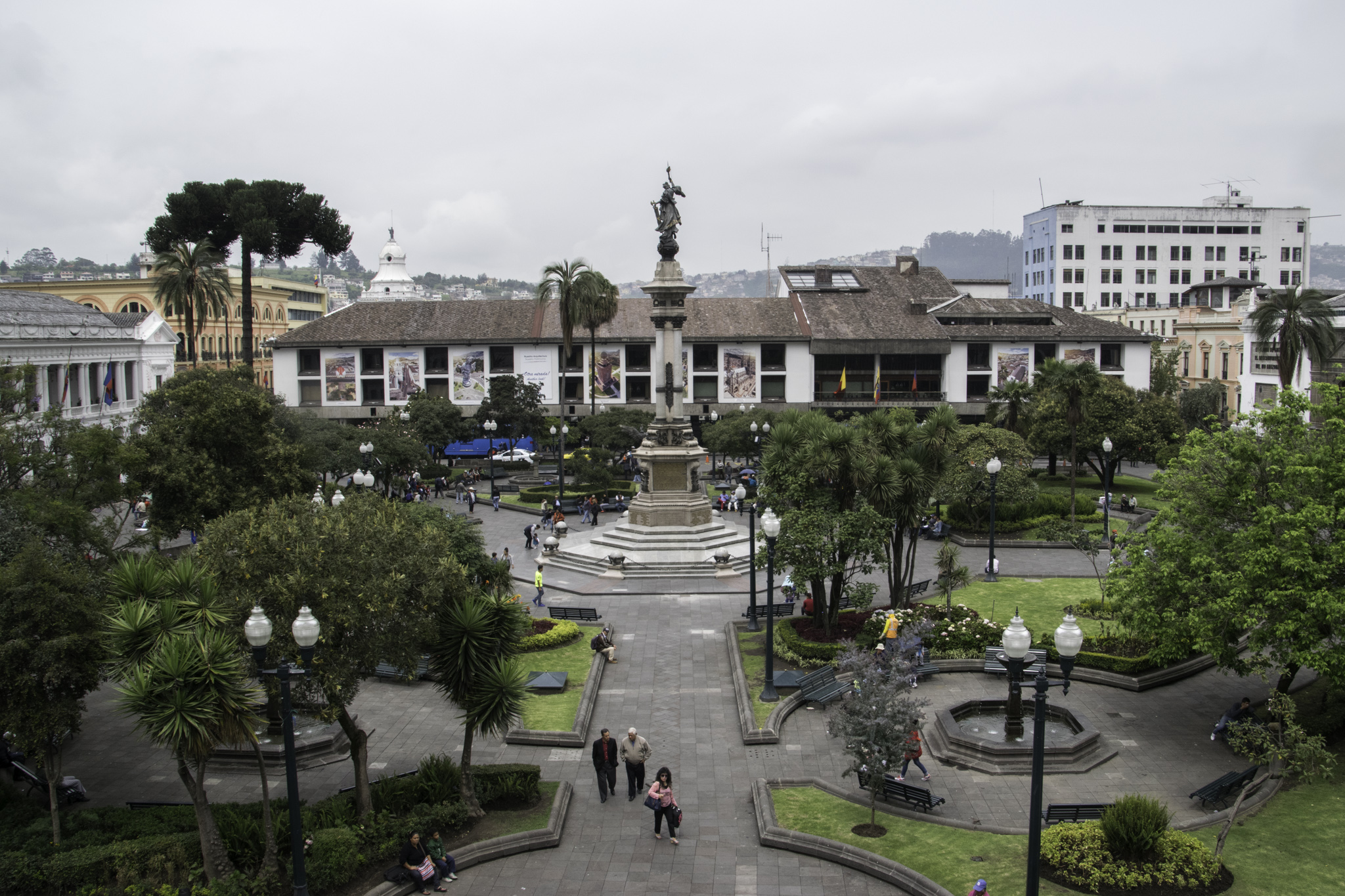 La Plaza de la Independencia - der Unabhängigkeitsplatz