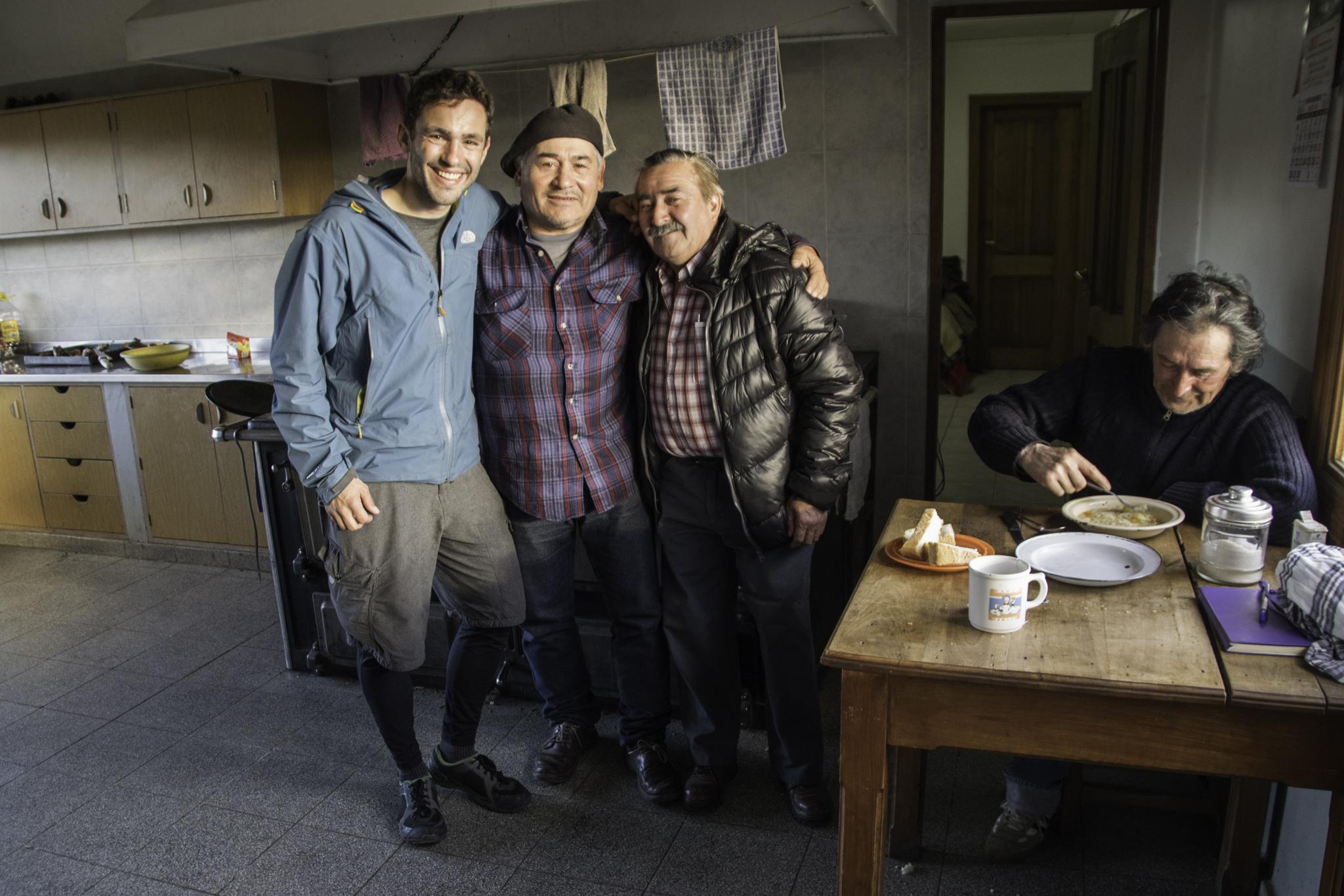 Erinnerungsfoto mit Don Pepe und dem Koch