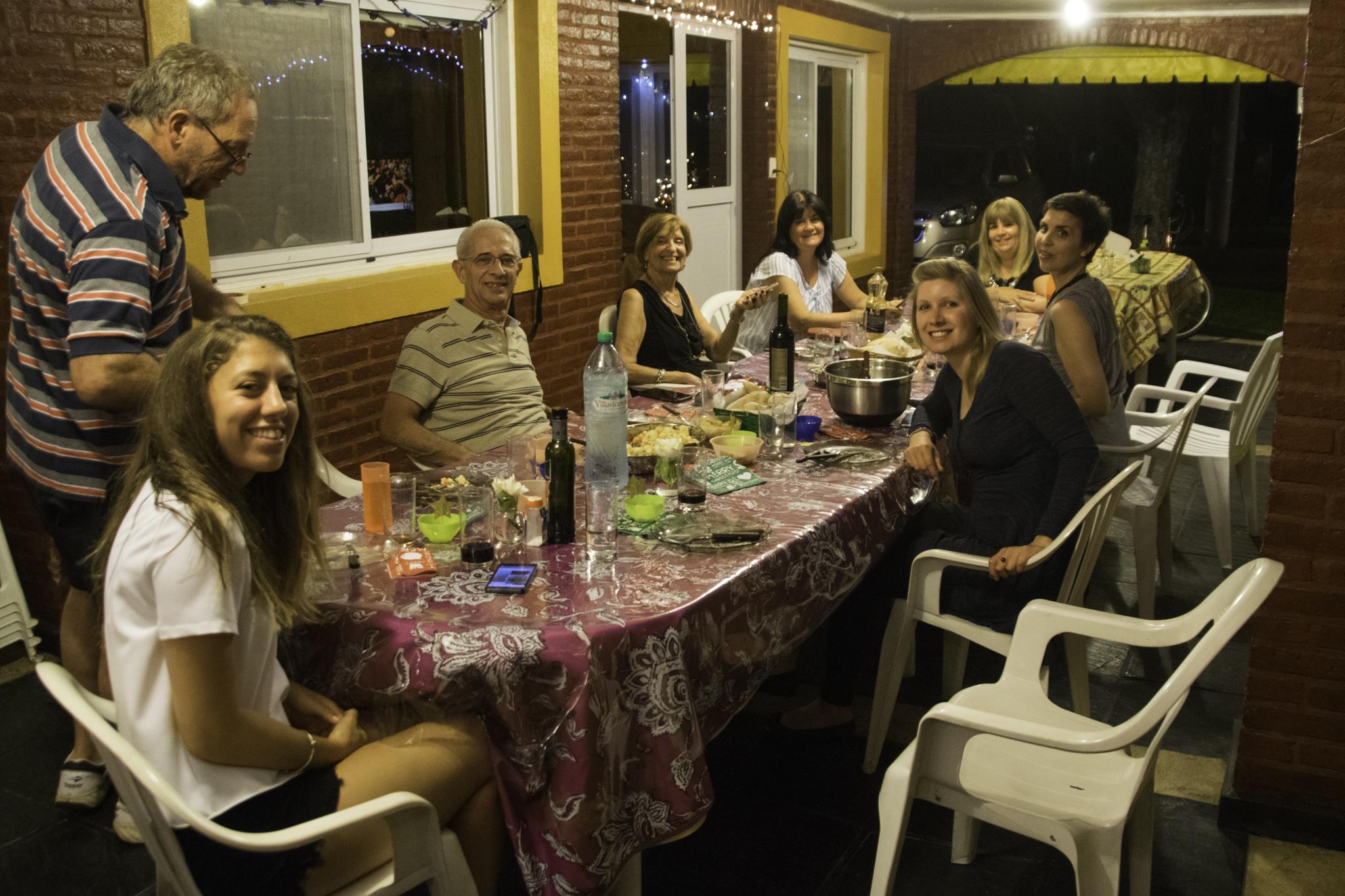 Argentinische Steaks und leckere Salate an Heiligabend
