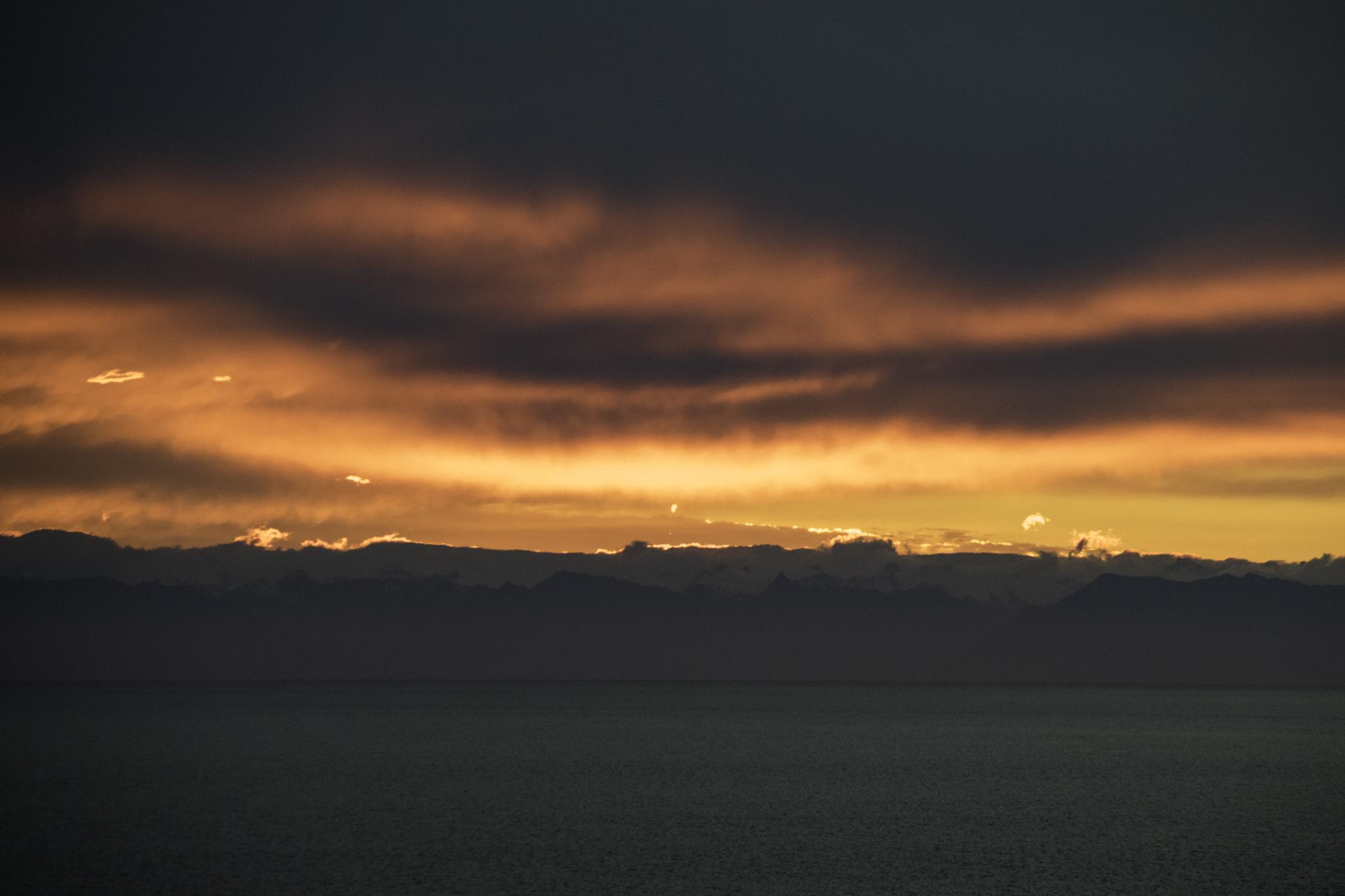 ...im Hintergrund die Andenkette auf dem Kontinent